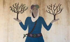 A mural in Jinwar