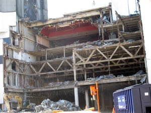 A photo of the Trump Plaza casino in October 2020. Demolition work began earlier this year.
