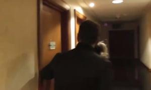 Far-right activists knocking on asylum seekers' doors at a hotel in Bromsgrove, near Birmingham.