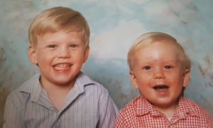 Stuart Heritage and his brother Pete in 1985