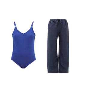 Body, £105 and trousers, £95 both by Rossell England from matchesfashion.com