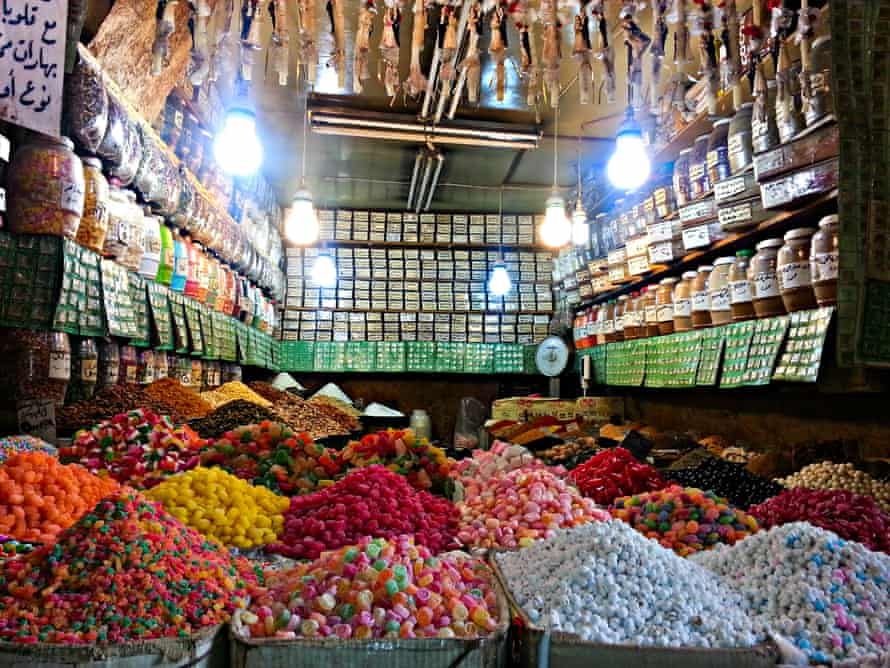 Candy colours ... a Syrian sweet shop