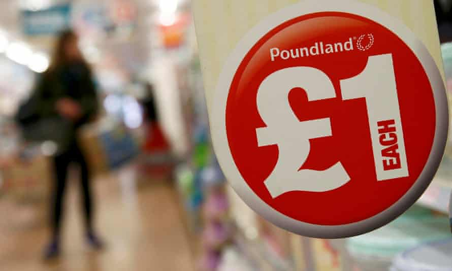 Inside a Poundland store in London.