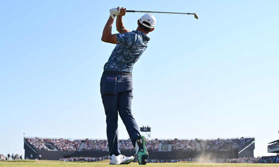 Collin Morikawa's caddie said of the new Open champion: 'You add the freakish ball striking to his cold-stone demeanour ... and you get someone who is very special.'