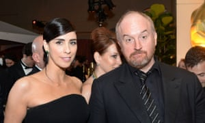 Sarah Silverman and Louis CK at the Oscars' Governors Ball in 2016