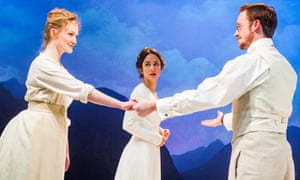 Eve Ponsonby, Lydia Leonard and Jolyon Coy in Little Eyolf at the Almeida.