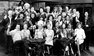 The cast of Coronation Street in 1985.