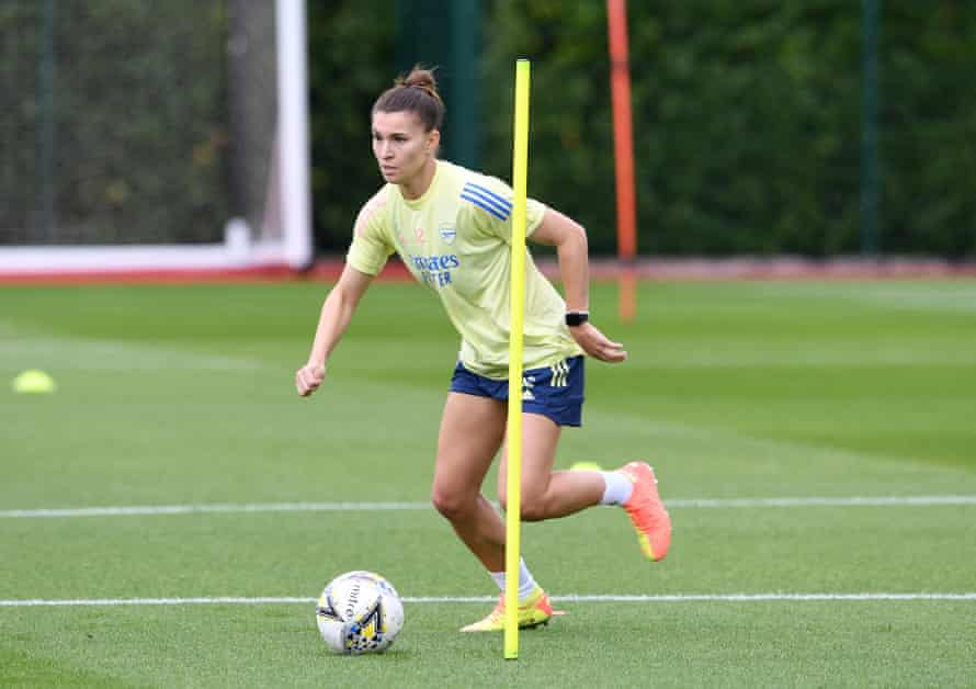 Steph Catley during an Arsenal training session in July.