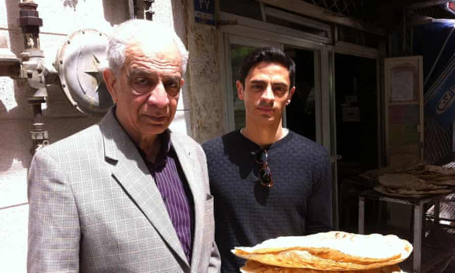 Cyrus Shahrad with his father Bahram in Tehran