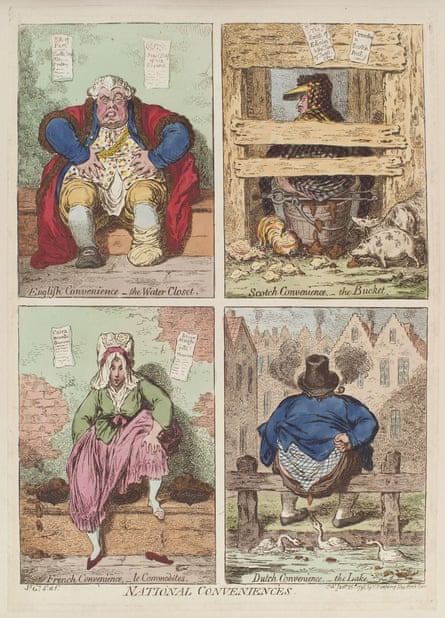 National Conveniences (1769) by James Gillray.