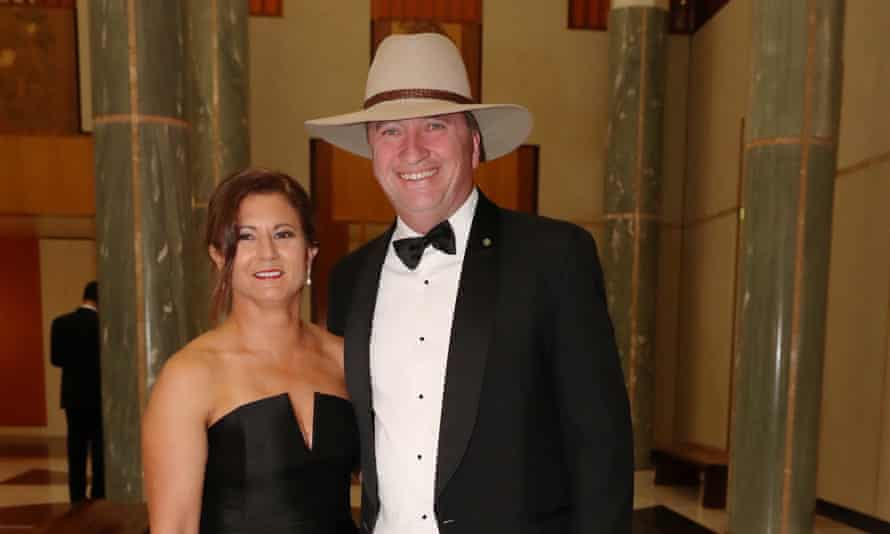 Barnaby and Natalie Joyce at the Mid-Winter Ball in Canberra in June 2017.
