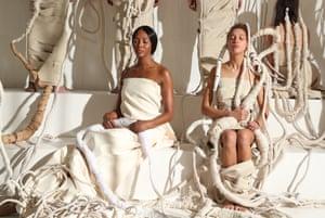 Milan, Italy Naomi Campbell is among the models at Tod's show for Milan fashion week