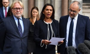 Gina Miller outside the high court in London following the judgment