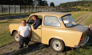 Will Self, Mike Shamash with the Trabant