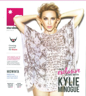 A 2014 Star Observer featuring Kylie Minogue