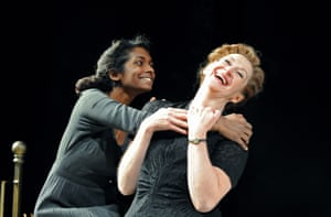 Anneika Rose as Juliet and Julie Legrand as The Nurse in an RSC production at the Theatre Royal, Brighton, in 2008.