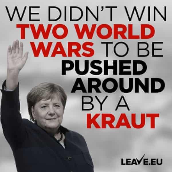 Leave.EU's Angela Merkel tweet following the leaked details of the Johnson-Merkel phone call