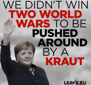 The Leave.EU tweet about Angela Merkel.