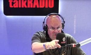 James Whale broadcasting on TalkRadio