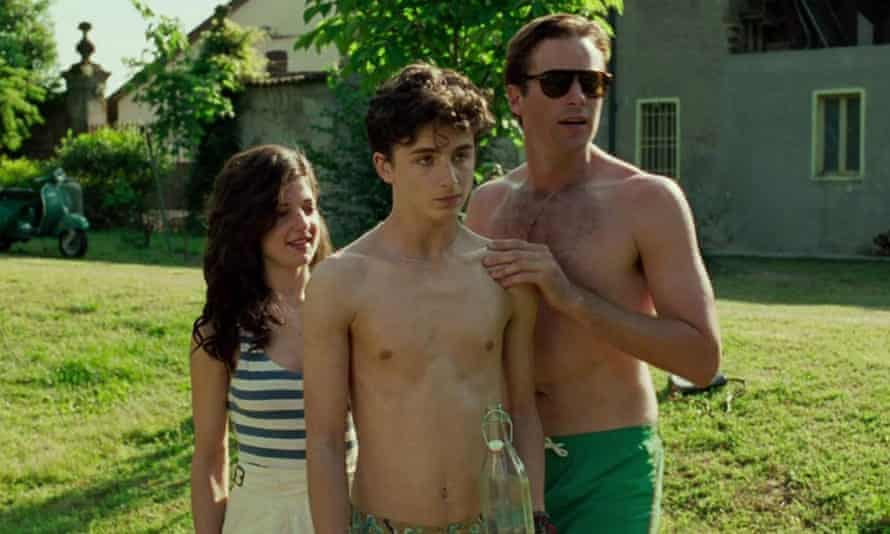 Call Me by Your Name … Esther Garrel, Timothée Chalamet and Armie Hammer.