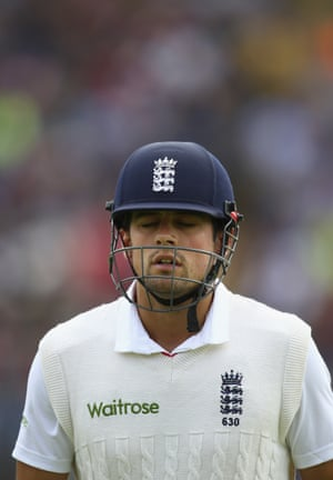 Alastair Cook dejected after slashing through point and edging through to Haddin