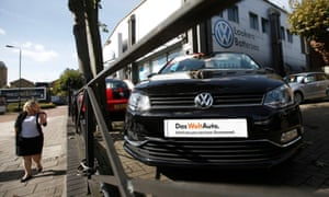 A Volkswagen dealership in London