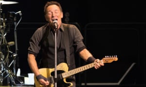 Bruce Springsteen performing with the E Street Band in Chicago in January.