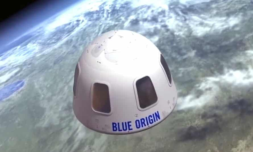 The auction winner will join the Bezos brothers in a Blue Origin capsule for the flight next month.