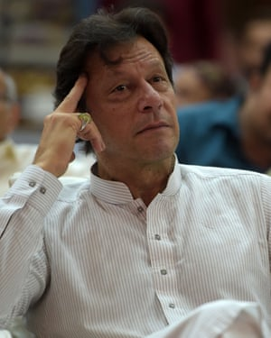 Cricketer-turned politician Imran Khan is the leader of the Pakistan Tehreek-e-Insaf party.