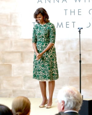 Michelle Obama speaks at the Anna Wintour Costume Centre grand opening at the Metropolitan Museum of Art on 5 May 2014, New York City.