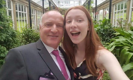 Ceara Thacker with her father Iain