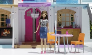 Barbie's Hello Dreamhouse is displayed at Toy Fair in New York. The smart home connects to the internet and a companion app.