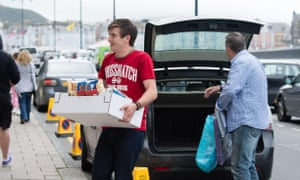 A first year 'fresher' student moves in.