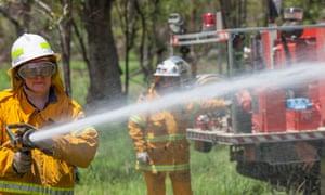 NSW Rural Fire Service firefighter