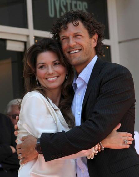 Shania Twain with her husband, Frédéric Thiébaud