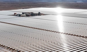 The Noor One concentrated solar power plant in Ouarzazate is one of the largest solar plants in the world.