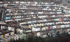 Aerial view of houses in Bristol