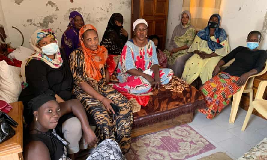 Hadi Diop and fellow women in saint louis, Senegal