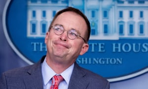 Mick Mulvaney in his news conference at the White House on Thursday.