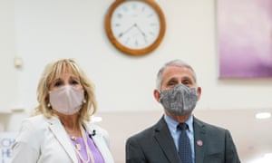 Fauci with Jill Biden in June. Fauci said: 'We're going to see, and I've said, almost two types of America.'