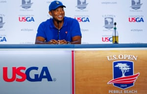 Tiger Woods opted for a driving range and putting session on Tuesday rather than playing practice holes.