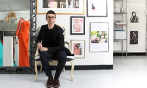 Christian Siriano in his New York showroom.