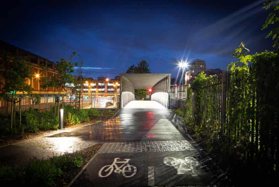 The Kingston cycle bridge.