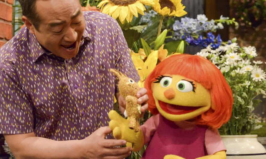 Julia, a new autistic muppet character on Sesame Street