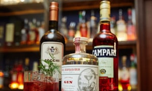 Key ingredients for a negroni.