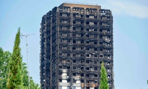 The burned-out shell of the Grenfell Tower