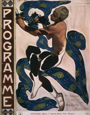 Programme illustration of Vaslav Nijinsky in Prélude à l'après-midi d'un faune.