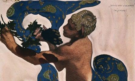 A detail from the programme for Prélude à l'après-midi d'un faune, starring Nijinsky in 1912.
