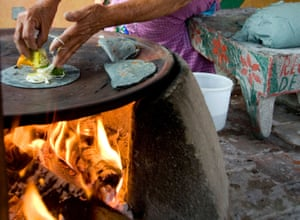 "Blue corn tortillas being made in Oaxaca. ""The number one demographic for taquerias in Mexico is their neighborhood around them,"" says Cabral."