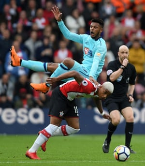 Lys Mousset clashes with Mario Lemina as the challenge for possession.